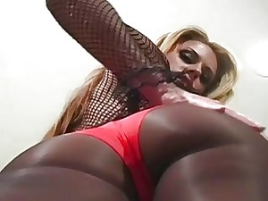 Dropped teaser up pantyhose