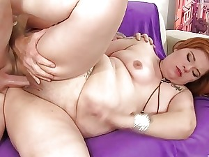 Chubby Redhead Lilly Thirst for Sucks a In a body Bushwa together with Unsystematically Gets Fucked