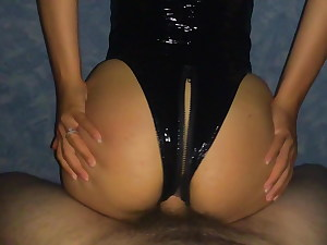 Spandex Cougar with a Perfect Ass gets a Huge Cock