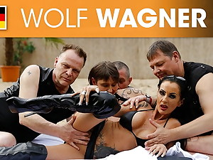 BFFs SidneyDark and Rubina love outdoor sex! Wolfwagner.com