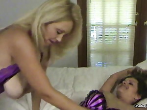 Horny Hot MILF Charlee Chase Goes Down On Brandon Areana!