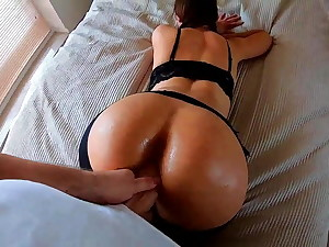POV Rear end WITH HOT  First-timer Cougar