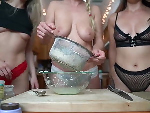 Nude busty bakers soiree
