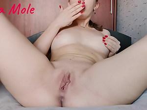 Damsel in red underwear drains pussy wet pussy – Anna Mole