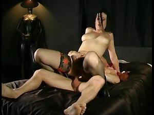 OVIDIE in black stockings gets fucked stiff
