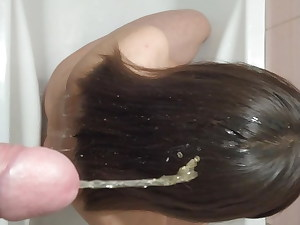 DROPPED URINE ON THE HAIR OF A YOUNG BRUNETTE, GOLDEN RAIN F