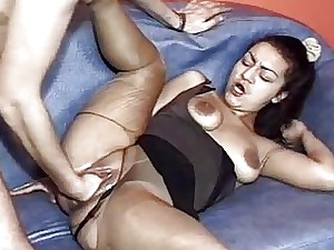 Advanced knuckle fucked super-bitch showered round piss added to sper